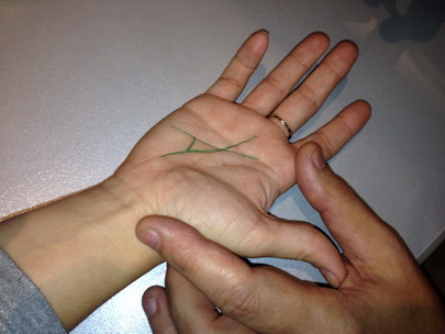 Right money triangle on the palm  Money wealth is a money