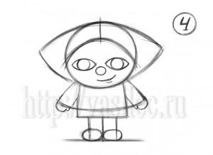 Рисунок домового карандашом поэтапно легко